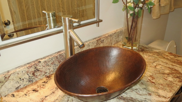 modern copper sink and faucet