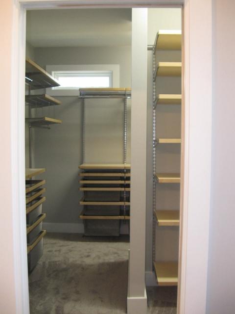 modern style closet built ins